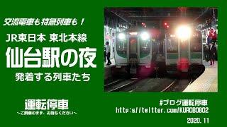 【JR東日本】仙台駅の夜 発着する列車たち