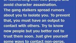Countermeasures for Gang Stalking Part 1