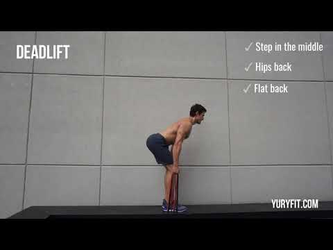 How to do a Deadlift with resistance bands | YuryFit