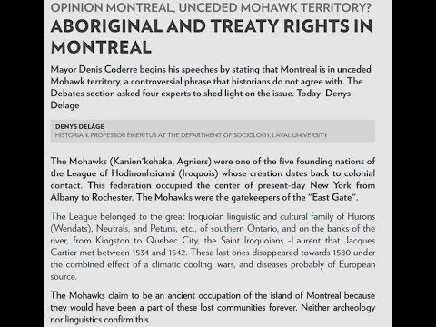 MCK Responds to La Presse Articles Questioning Historical Mohawk Presence in Montreal