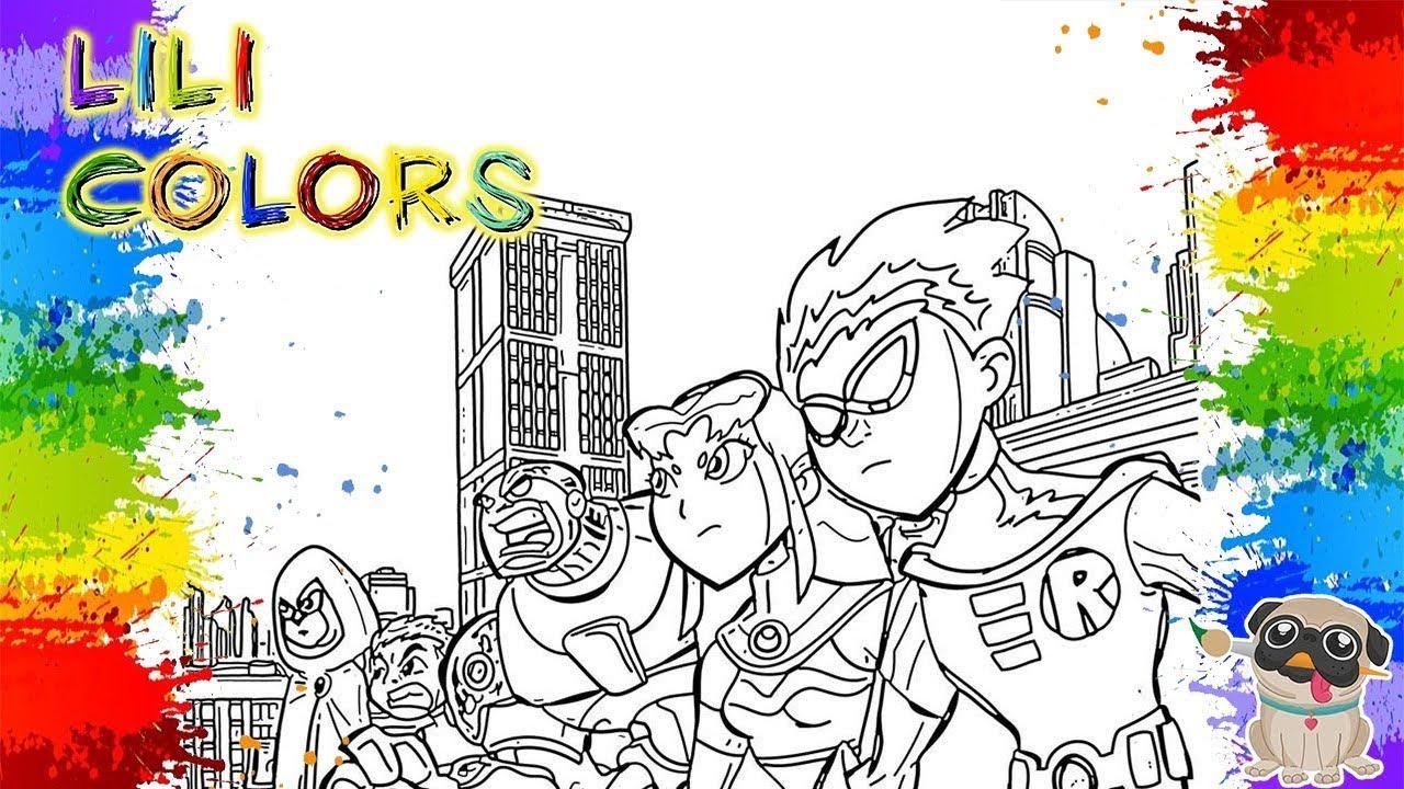 Colorindo Jovens Titans Em Acao Desenhos De Aventura Video Para