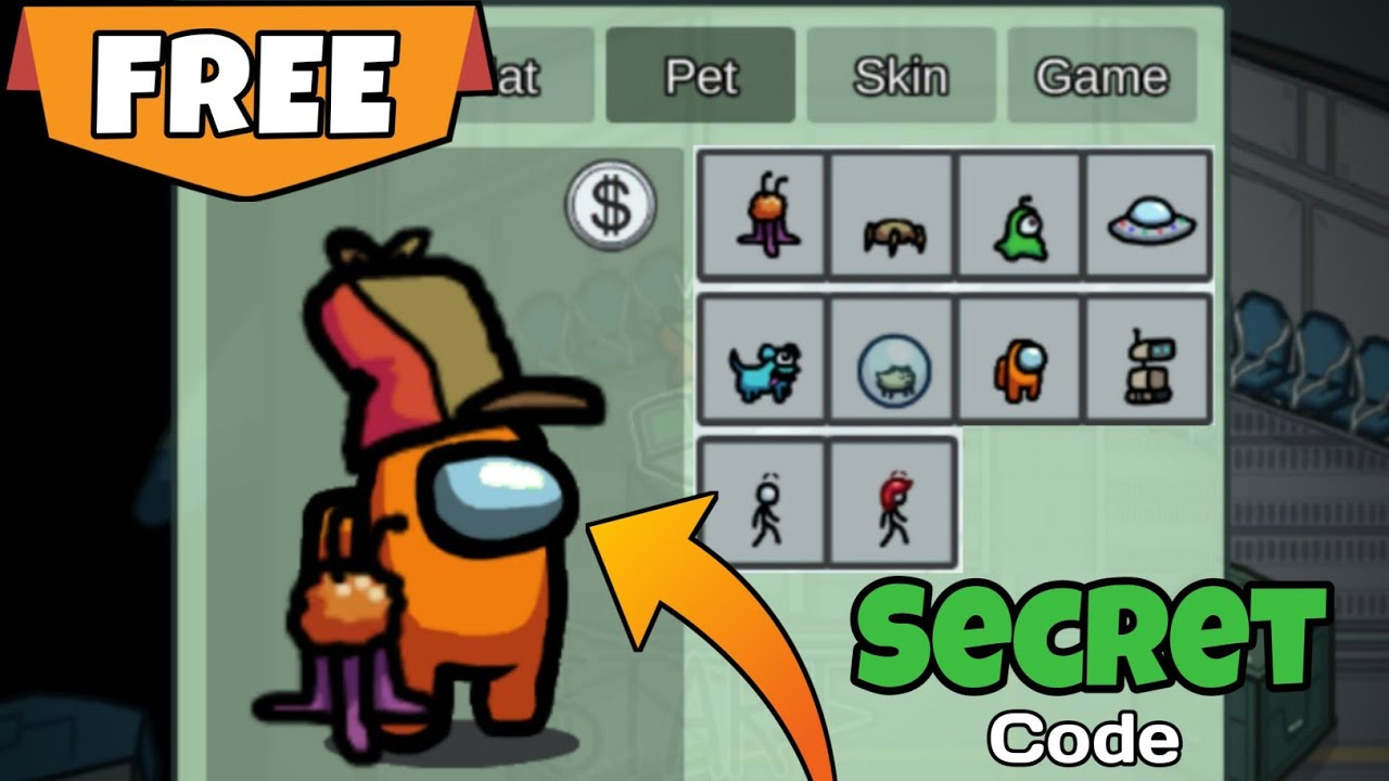 Download SECRET CODE TO UNLOCK ALL SKINS, PETS & HATS FOR FREE IN AMONG US! (iOS/ANDROID/PC) 2021