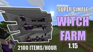 Super simple WITCH FARM for MINECRAFT Tutorial