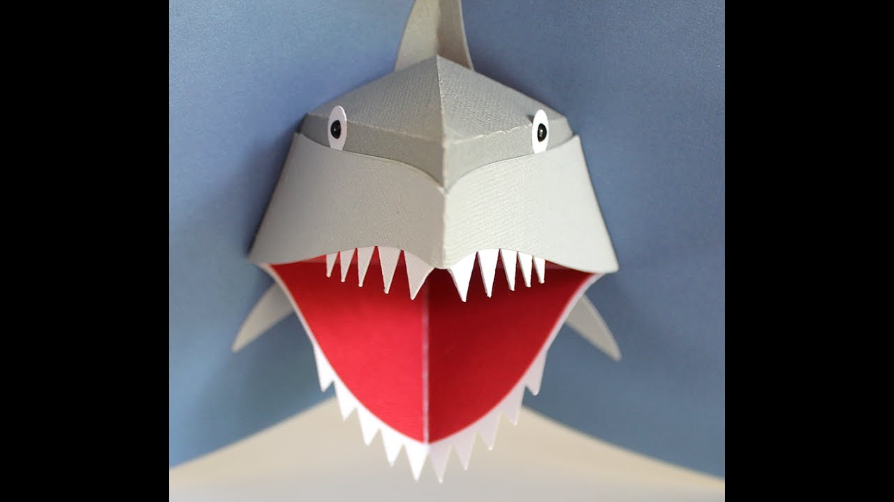 Shark Pop Out Card Assembly