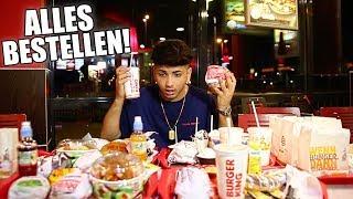 ALLES bestellen bei Burger King !!! 😂