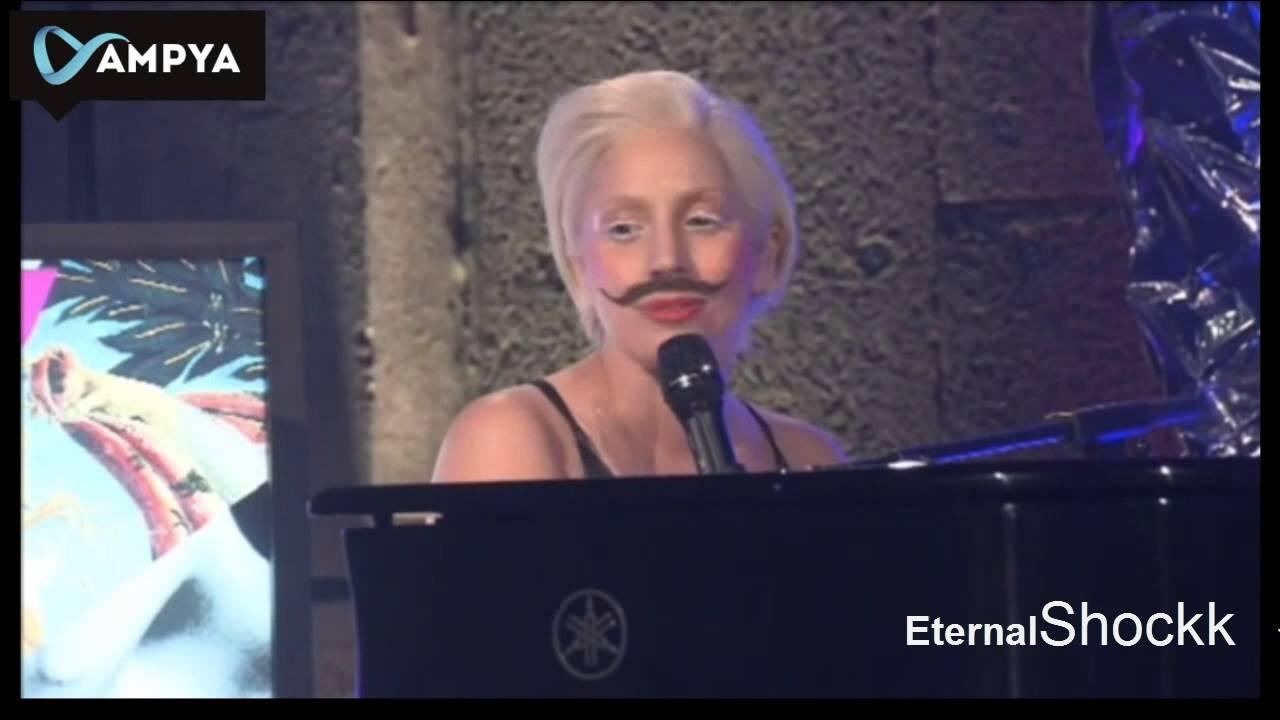 Download Lady Gaga - Gypsy (Acoustic Piano) Live at The AMPYA [720p HD]