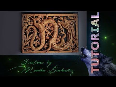 TUTORIAL Imitation wooden openwork carving Dragon