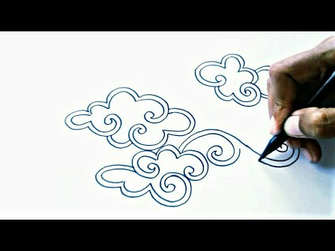 Sketsa Batik Mega Mendung Cara Menggambar Batik Sempoa Dunia