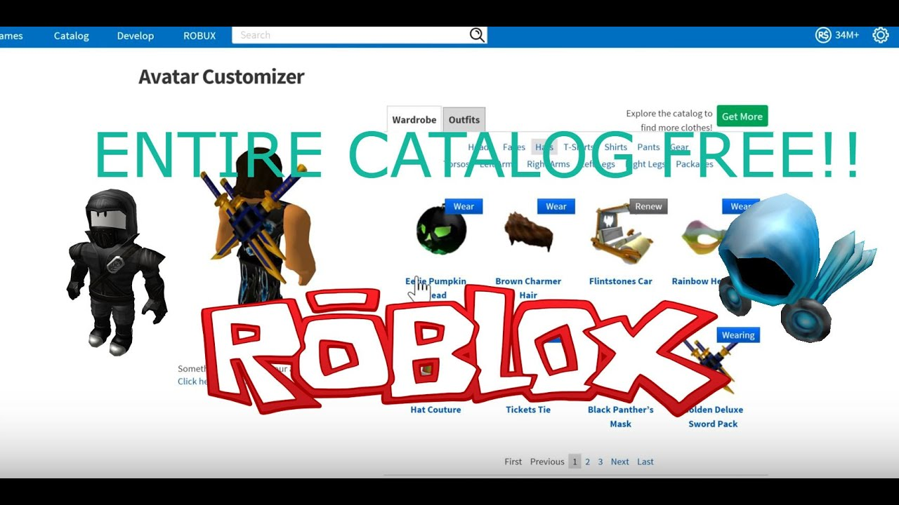 HOW TO GET ANYTHING IN CATALOG FOR FREE!! ROBLOX