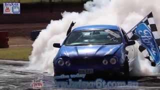 Ford Au Falcon ute skid at Talk