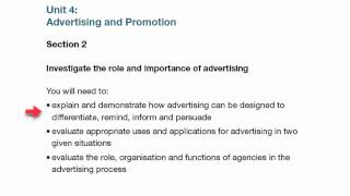 Unit 4 Advertising and Promotion Assignment Level 5