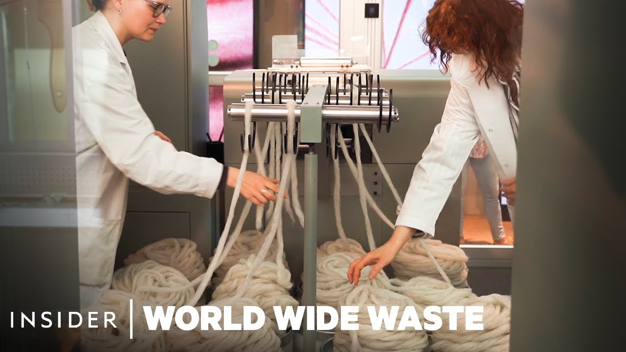 How Recycling Machines Make New Clothes From Used Apparel | World Wide Waste