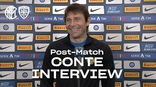 "INTER 1-0 CAGLIARI | ANTONIO CONTE EXCLUSIVE INTERVIEW: ""No calculations"" [SUB ENG] 🎙️⚫🔵"