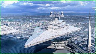 Star Wars Starships Size Comparison 3D