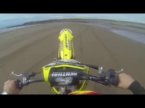 Motocross On The Beach With Cops Police Turn Up Quad Ardeer Beach Enduro