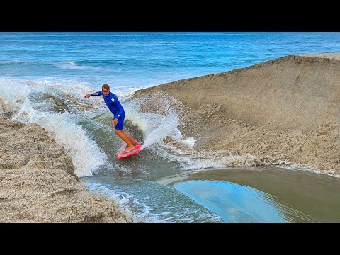 RIVER BREAK SURFING IN SOUTHERN CALIFORNIA!