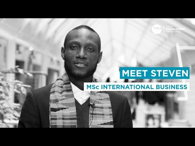 Meet Steven, MSc International Business student at EMLV Paris