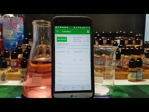 How To Use An E Liquid Calculator ( DIY E JUICE )