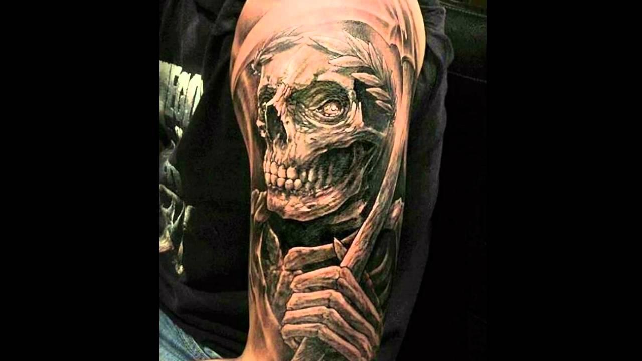 Tatuajes De La Muerte Y De La Santa Muerte Youtube