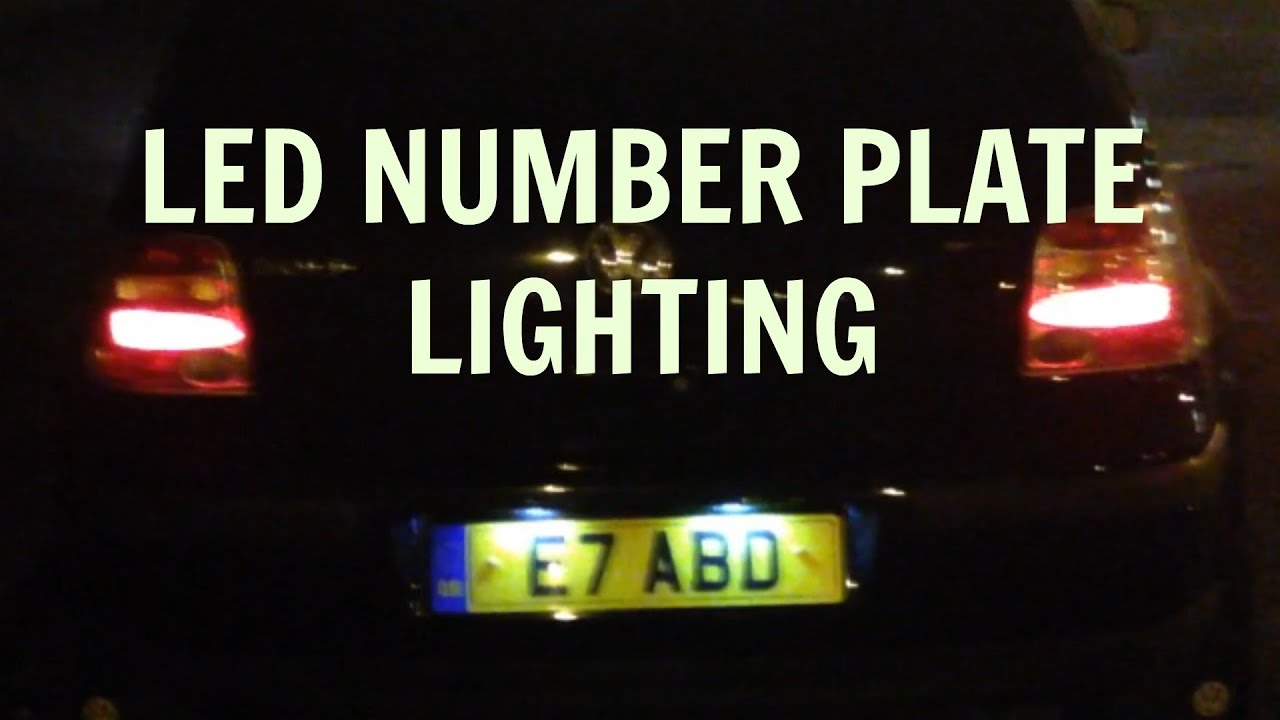 ROAD LEGAL 6 SMD LED Bright White Number plate Light - YouTube