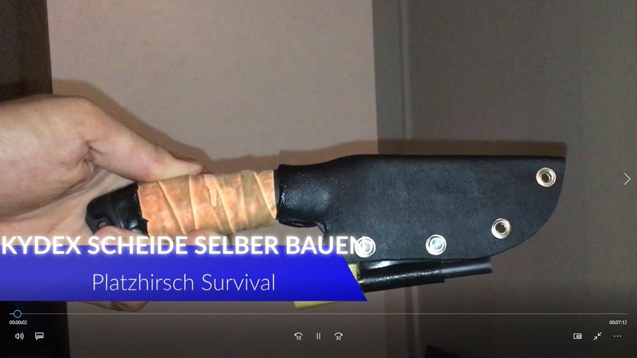 Kydex Scheide selber bauen - YouTube