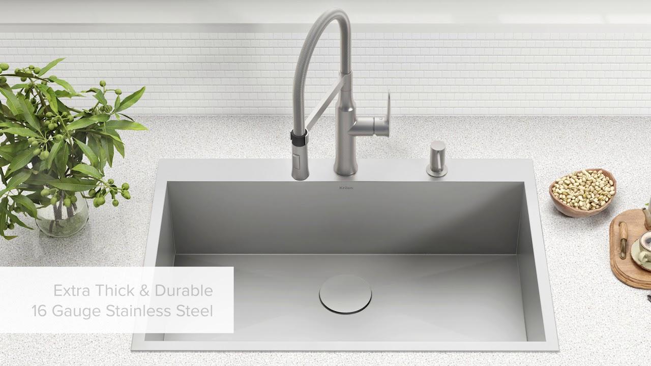 kraus usa top mount drop in sinks
