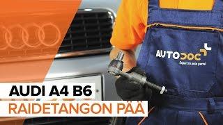 AUDI A4 (8E2, B6) Raidetangon Pää asennus : ilmainen video