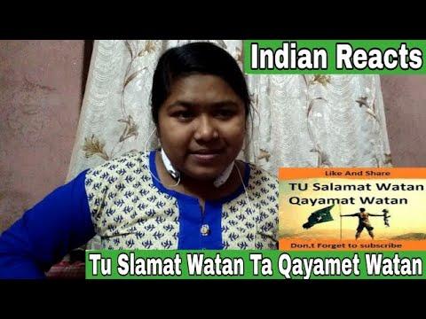 Indian Reacts To Tue Salmat Watan Ta Qayamet Watan | Pakistani Army Song  | Reaction RD thumbnail