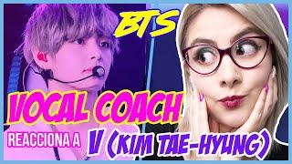 BTS - V (KIM TAEHYUNG)  | VOCAL COACH REACCIONA | Gret Rocha