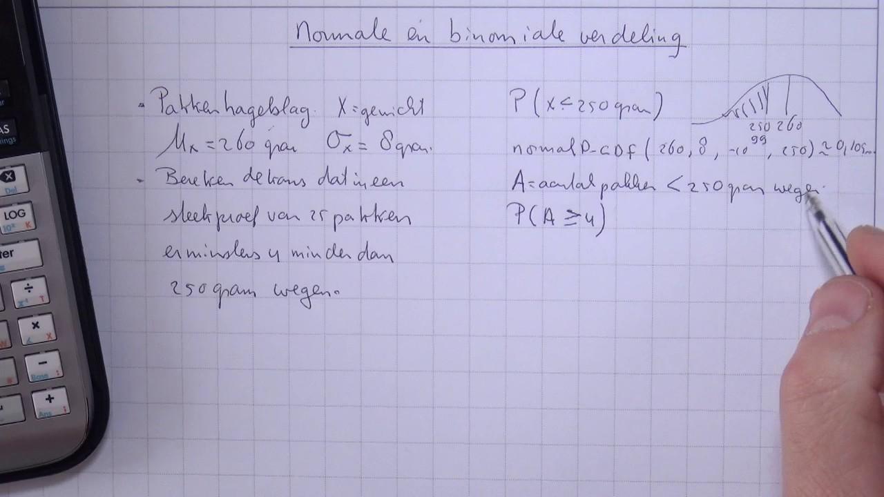 Scholierencom Videoplatform Normale En Binomiale Verdeling