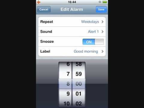 how to change default alarm sound iphone