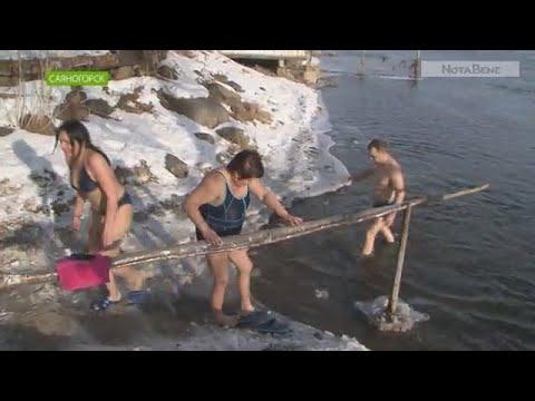 Моржи Саяногорска протестировали воду в Енисее