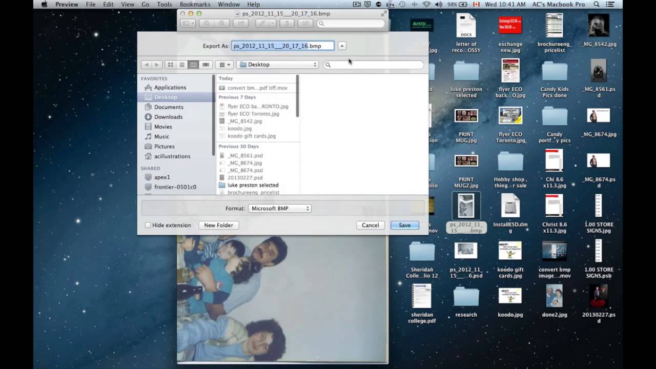 Convert bmp image file to jpg using preview on mac for free youtube ccuart Images