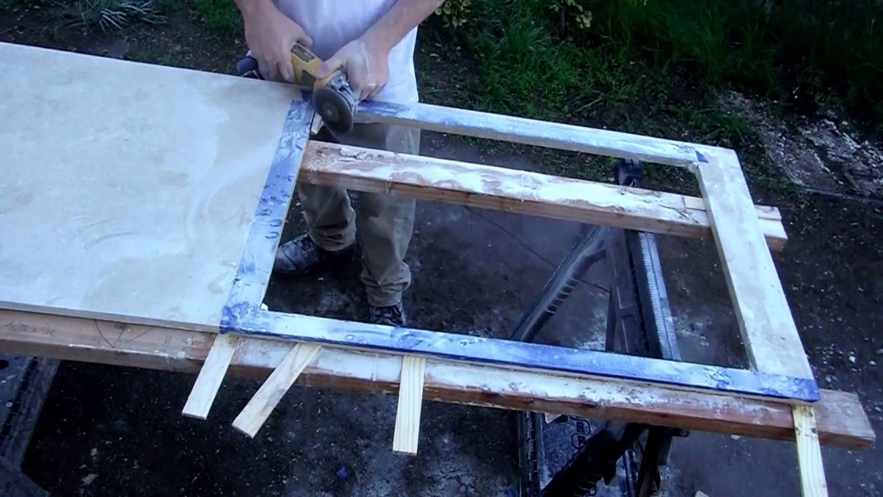 Cut Stone Countertops for a Sink with a Circular Saw! - YouTube