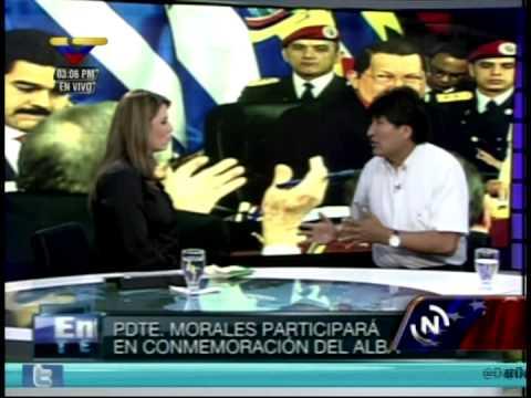 Entrevista al Presidente Evo Morales en Telesur este sábado 15 de diciembre