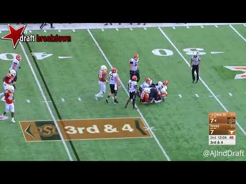 Malik Jefferson Texas LB vs Oklahoma St