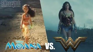 WONDER WOMAN Trailer Side-By-Side W/ MOANA