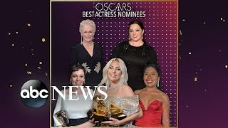Nominees Lady Gaga, Olivia Colman, Glenn Close, Melissa McCarthy an...