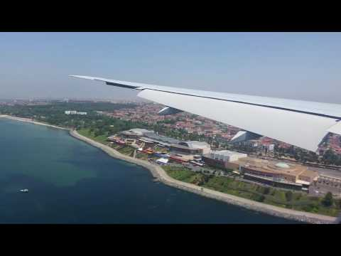 Turkish Airlines Boeing 777-300ER - Landing at busy Istanbul Atatürk Airport