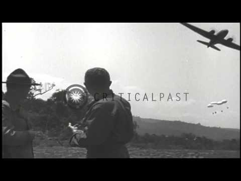 US Army General Joseph Stilwell confers with General Frank Merrill in Burma durin...HD Stock Footage