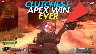 CLUTCH AT ITS PEAK😱 *MUST WATCH* APEX LEGENDS😱