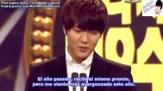 Video [Sub Español] Lee Min Ho gana en los 'SBS Drama Awards 2012' download MP3, 3GP, MP4, WEBM, AVI, FLV Desember 2017