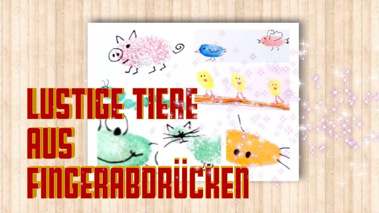 Lustige Tiere Aus Fingerabdrucken Malen Basteln Mit Kindern