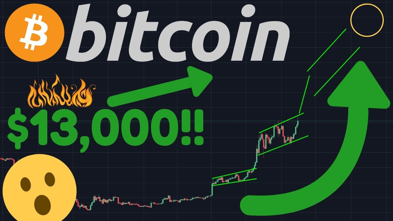BITCOIN BREAKING TO $13,382!!! | PARABOLIC!! | $9K Broken By The BTC Price!