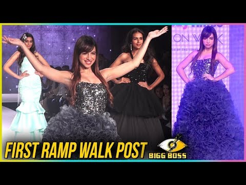 Benafsha Soonawalla FIRST Ramp Walk Post Bigg Boss 11 | TellyMasala