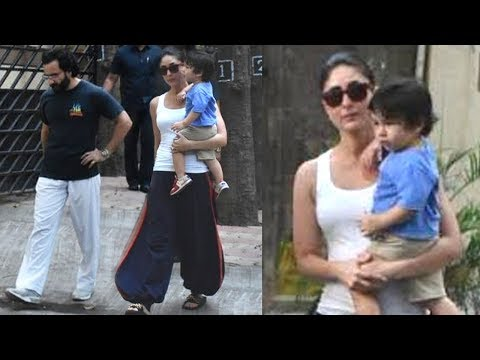 Taimur Ali Khan with Mom Kareena Kapoor & Father Saif Ali Khan SPOTTED on the Streets of Mumbai