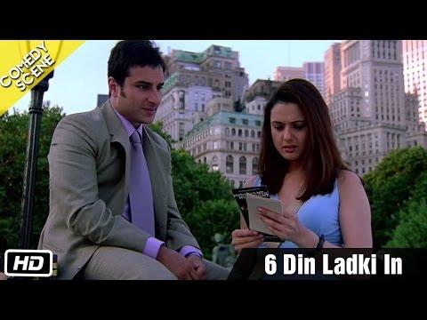 6 Din Ladki In - Comedy Scene - Kal Ho Naa Ho - Shahrukh Khan, Saif Ali Khan & Preity Zinta