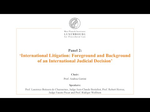 International Law and Litigation - 2 - Fore- and Background of an International Judicial Decision