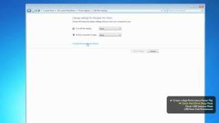 Power Management - Windows 7 - Pro Tools® Optimizations