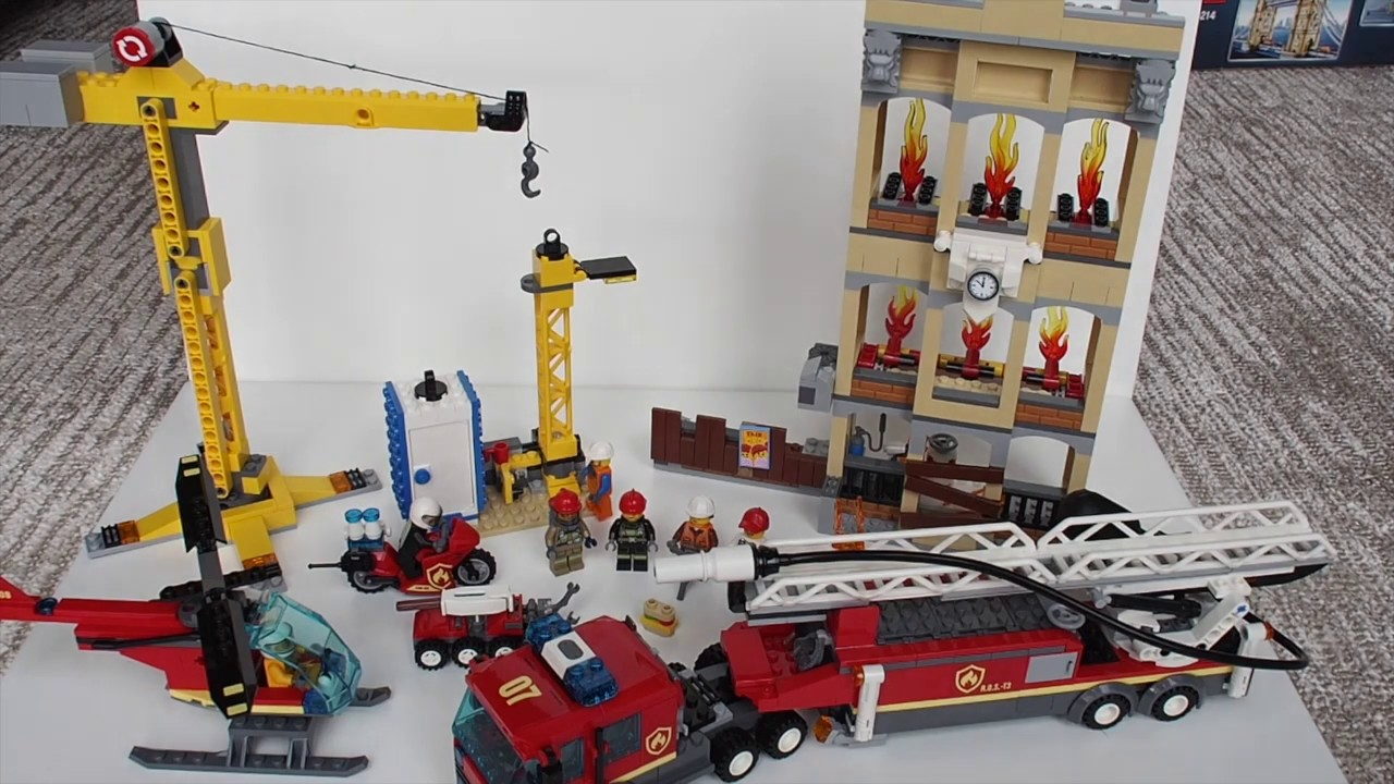 Lego City 60216 Downtown Fire Brigade Review - YouTube